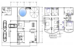 beach housing plan dwg file