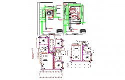 beach restaurant dwg file with layout plan and electric layout