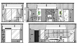 bedroom elevation dwg file