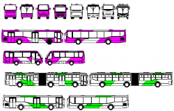 blocks of buses