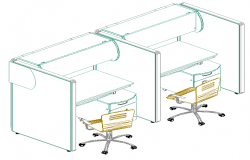box for computers tables 3d drawings design