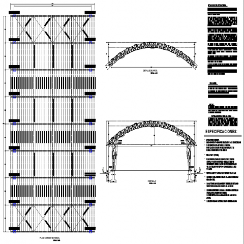 Bridge structural plan with detailing & dwg file.