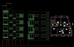 3 bhk autocad plan free download, 3 BHK Apartment plan