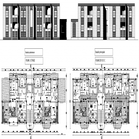 Cafeteria plan with a detailing dwg file.