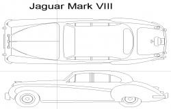 Jaguar 1957 car block