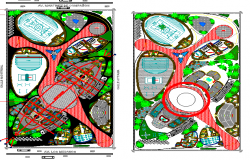 Private school lay-out autocad file DWG