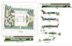 Park architecture lay-out plan