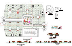 cemetery rooms and offices area planing architecture drawings