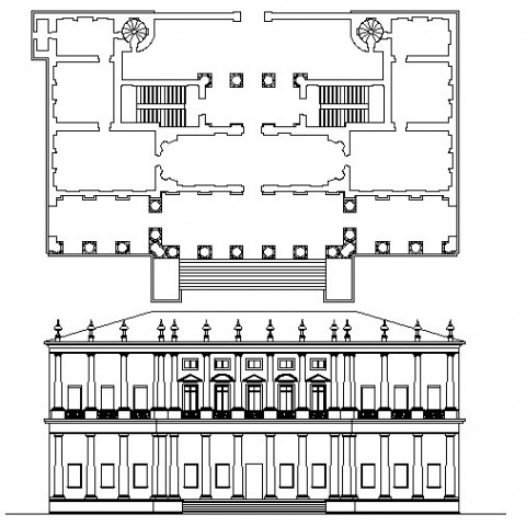 Chiericatti palace in dwg file.