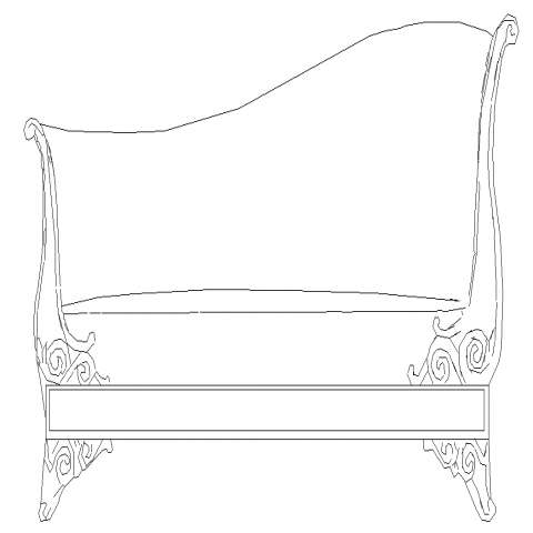 Chinese longue sitting sofa CAD blocks detail elevation dwg file