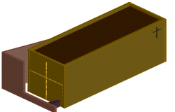 coffin dwg file