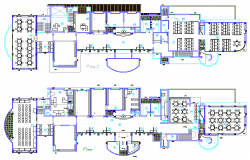 college project layout plan with detailing