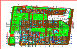 colombia   structural plan hospital dwg file