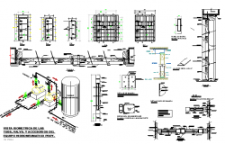 column and beam construction details of building dwg file