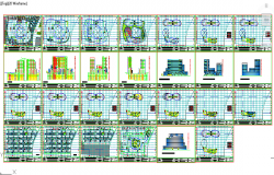 commercial building construction project Autocad File