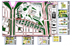 convention center and hotel design in DWG file