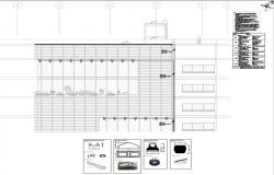 corporate building elevation detail and exterior led  lighting detail layout