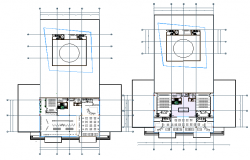 corporate building layout dwg file