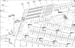 corporate building parking layout with detail