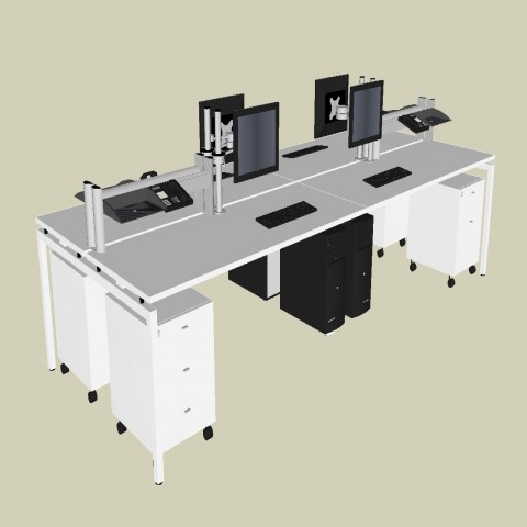 Creative bank office 3d furniture blocks cad drawing details skp file