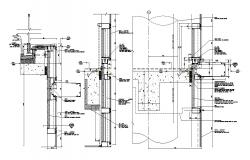 curtain wall drawing Free DWG File