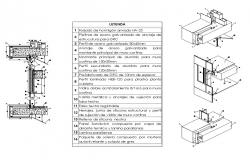 curtain wall section isometric detail