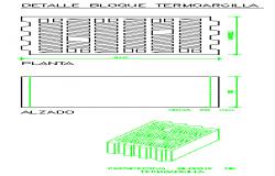 Termo clay block