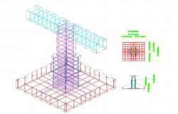 Footing detail DWG file