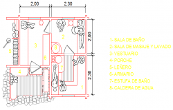 Drawing of Sauna design
