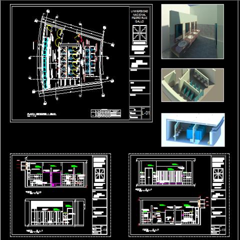 Development and bathroom dressing design dwg file