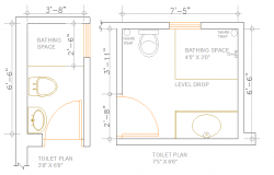 Simple Toilet Design lay-out