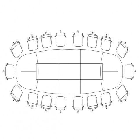 Dining table for joint family top view elevation cad drawing details dwg file