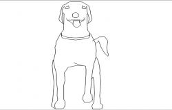 dog dwg file - autocad dog drawing