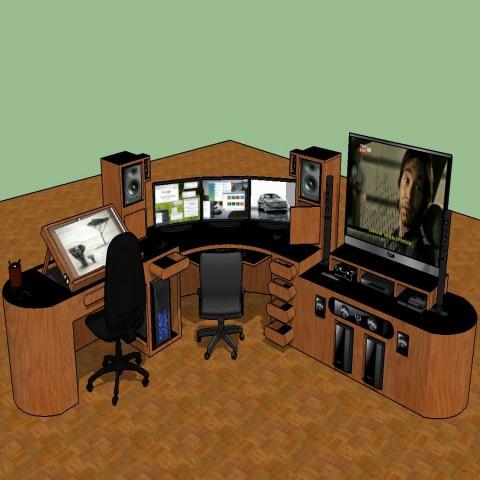 Dynamic 3d office furniture blocks cad drawing details skp file