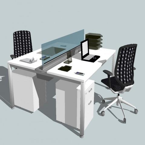 Dynamic office 3d furniture and desk cad drawing details skp file