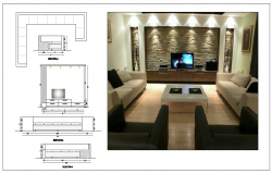 Sofa Set and TV Unit Design