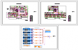 Electric plan design of Emergency Hosital drawing