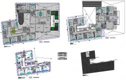 Hostel interior design Plan