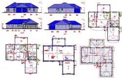 Villas design Autocad files