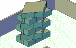 RECTENGULAR 3D  ROTATE HOUSE