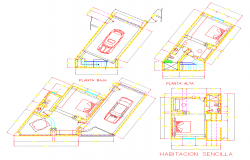 Hotel Room Detail plan