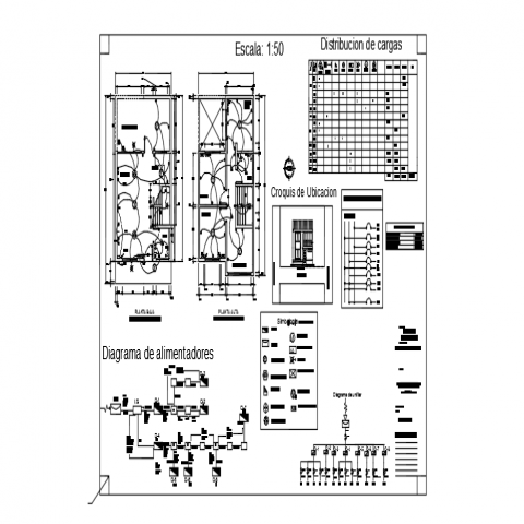 Electrical layout plan details