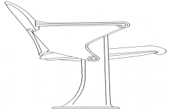 elevation of a chair dwg file