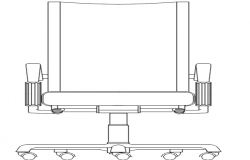 elevation of a office chair dwg file