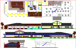 event centre dwg file