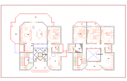 Layout plan of Villa