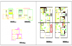 Architectural house design project drawing
