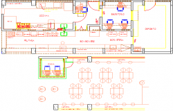 fast food restaurant dwg file