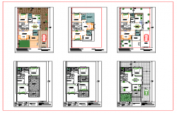 Duplex House Floor Lay-out