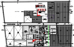 fire complex design dwg file
